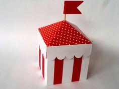 tenda de circo em papel scrap. também em outras cores. pedido mínimo: 20un  medidas: 7x7x13 R$ 4,00