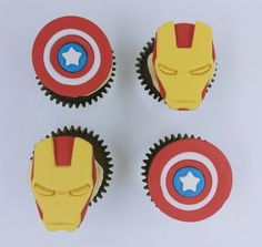 Our superhero themed cupcakes will bring the justice and the right amount of fun to any party. Themed Cupcakes, Birthday Cupcakes, Yummy Cupcakes, Mini Cupcakes, Custom Cupcakes, Bite Size, Serving Size, Corporate Events, Anniversary Gifts