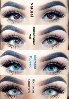 Echt farbige kontaktlinsen aussehen die Trend: Farbige
