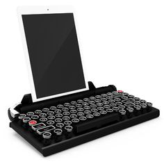 Qwerkywriter. A typewriter keyboard for your device. Feel like Hemingway. Available in August 2015 or preorder now for 309.00 from Qwerkywriter.