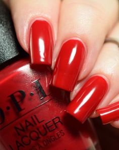 OPI Tell Me About It Stud Nail Polish | #LuxeNails #Red #VibrantRed #Affiliate #OPI