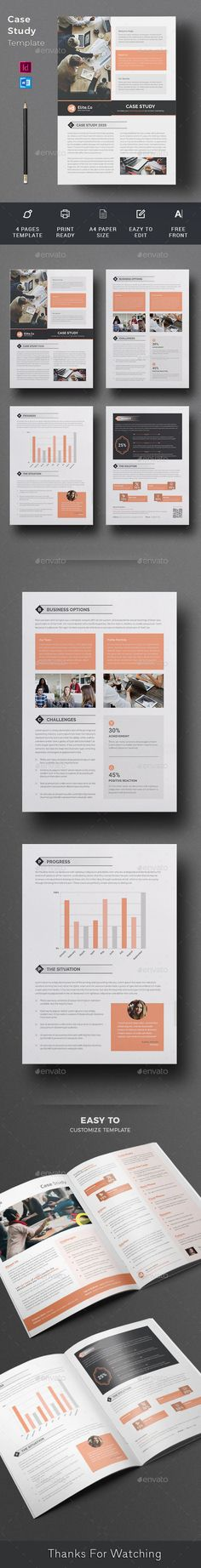 Case Study Brochure Case Study Brochure Template suitable for presenting your case studies in a professional way. You can use this template in multipurpose way like flyer, newsletter, printed portfolio or other editorial designs. Case Study Template, Page Template, Brochure Template, Templates, A4 Paper, Paper Size, Printed Portfolio, Change Image, Editorial Design