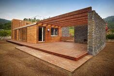 HappyModern.RU | Деревянные дома из бруса (53 фото): проекты и их особенности | http://happymodern.ru