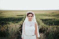 boda vintage velo corona flores atardecer valencia blog atodoconfetti