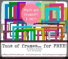 Frames, shabby chic, burlap any kind of frame.