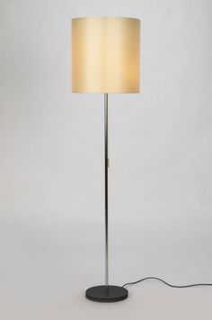 Description Swiss floor lamp designed and manufactured by Megal AG in the Elegant, white cotton shade with black borders on a solid brass column. Art Storage, Solid Brass, Floor Lamp, Table Lamp, Elegant, Lighting, Design, Home Decor, Light Fixtures