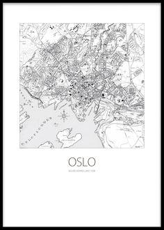 Poster med kart og teksten Oslo.