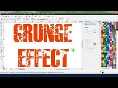 Creating a Distressed Look in CorelDRAW - YouTube