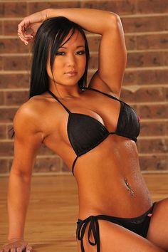 Canadian Bikini Competitor and Bikini model Ying Ying Tan from Saskatoon, Saskatchewan, Canada.