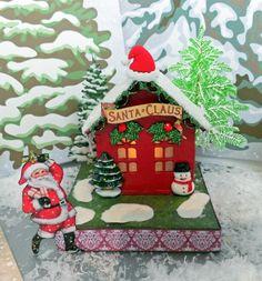 Artfully Musing: Santa's Village Tutorial & New Collage Sheets
