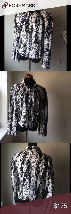 St. John sports floral jacket Beautiful St. John's Sports jacket size medium ready to wear for work or dressed down with jeans! St. John Jackets & Coats
