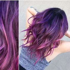 @sheariouslytoni from @unionsalon is the artist... Pulp Riot is the paint.