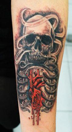 bleeding heart skull! :)