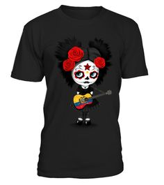 # Sugar Skull Girl Playing Ecuadorian Flag Guitar . HOW TO ORDER:1. Select the style and color you want: 2. Click Reserve it now3. Select size and quantity4. Enter shipping and billing information5. Done! Simple as that!TIPS: Buy 2 or more to save shipping cost!This is printable if you purchase only one piece. so dont worry, you will get yours.Guaranteed safe and secure checkout via:Paypal | VISA | MASTERCARD
