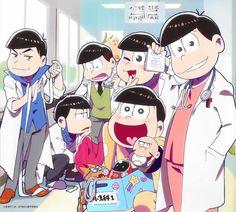 Can any Doctor in Osomatsu-san save me because I almost have a heart attack and a severely nosebleed. Osomatsu San Doujinshi, Pokemon, Laughing And Crying, Ichimatsu, South Park, Haikyuu, Anime Characters, Brother, Nerd