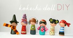 Sooooo cute!  Made from clay, paint and fabric.