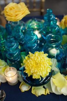 Van Gogh Themed Wedding  |  harper point photography Where do I find the colored glass?? so pretty! #dawninvitescontest