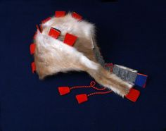 This one is so cool. --  Sami woman's or child's hat, reindeer pelt and wool, Mánágahpir, Ivalo, Finland.