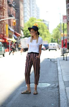 great pants. NYC. #WeWoreWhat (maybe sans birkenstocks)