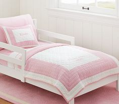 Peyton Toddler Quilted Bedding #PotteryBarnKids