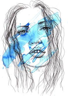 """Blue"" by Linda Hammond. Paintings for Sale. Bluethumb - Online Art Gallery"