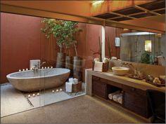 dreamy outdoor bathroom