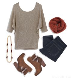 A great casual outfit - I'd really like to try this Jemdy Dolman Sleeve top!