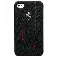 #Ferrari #Modena Leather Hard Shell Case for #iPhone 4 & 4S - Black w/ Red $48.99 From #DayDeal