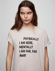 Pull&Bear - woman - clothing - t-shirts - text t-shirt - beige - 09244362-V2017