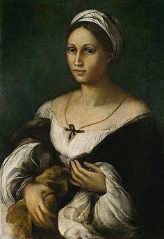 Raffael (Raffaello Sanzio): Bildnis einer jungen Frau (Donna Velata). Um 1518/20?