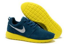 finest selection 935da e7db2 Nike Roshe Mens Running Wool Skin Blue Yellow Shoes Where Is The Best Black  Friday Deals