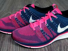 e818f0776f6d6 Nike Flyknit Trainer+ - Squadron Blue - Pink Flash - SneakerNews.com Nike  Shoes Usa