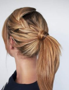 Magnificent Easy Ponytail Hairstyles For School Hair Romance Easy Braided Ponytail Hairstyle The post Easy Ponytail Hairstyles For School Hair Romance Easy Braided Ponytail Ha . Ponytail Hairstyles Tutorial, Braided Hairstyles, Hairstyle Tutorials, Braid Ponytail, Ponytail Ideas, Hairstyle Ideas, Hair Ideas, Braid Hair, School Hairstyles