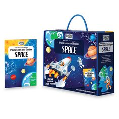 #Sassi Science: Travel, learn and explore - The Space. A 205-pieces oval puzzle with  a 32-pages book. #eco #friendly #book #game