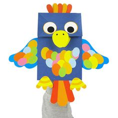 Aprender Brincando: Fantoches com saco de papel para Educação Infantil