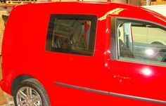 VW Caddy - Carpeting to all panels with fold up rear seat conversion - www.vanax.co.uk