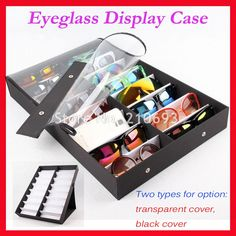 >> Click to Buy << Retail 16A/B eyewear spectacle Sunglasses Glasses display Case Box Suitcase Clear cover for holding 16pcs of sunglasses #Affiliate