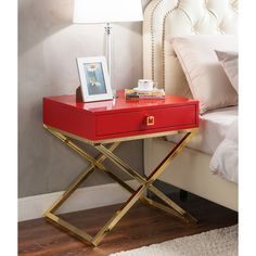 Give your home contemporary flair with the Bogart cross-leg side table from Iconic Home