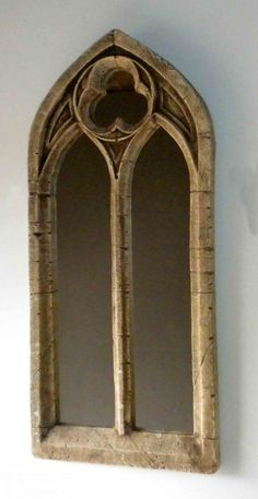 Gothic church mirror two arch antique window frame 22 for Church style mirrors