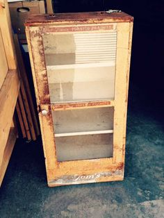 Toms Peanut Cabinet Early 1900 S Display Case Metal And