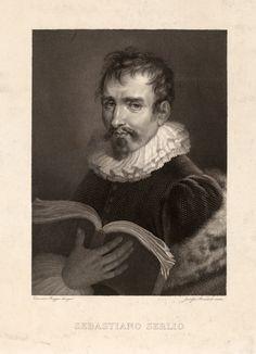 Portrait of Sebastiano Serlio Print by Vincenzo Raggio