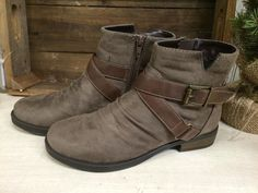Booties with Buckle Accents
