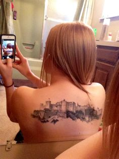My tattoo of the Festung Hohensalzburg in Salzburg, Austria. Done by Frank McManus (from Ink Master) at God Head studio.