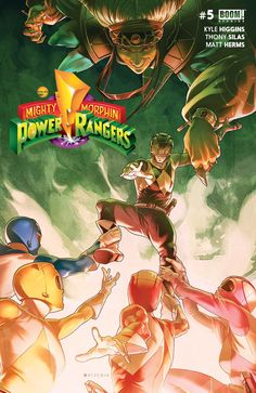 BOOM Studios – Mighty Morphin Power Rangers 5 part Power Rangers 2016, Power Rangers Movie 2017, Power Rangers Comic, Boom Studios, Green Ranger, Mighty Morphin Power Rangers, Comic Games, American Comics, Caricatures