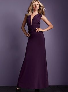VS Multi-way dress - Wrap this way, with a pin or brooch at the center to hold the neckline?
