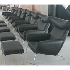 Classic sofa living room Luxury black leather OX lounge chair and Ottoman - China Office Chairs & Fiberglass Leisure Seating Manufacturer in Alibaba Office Chair Price, Cheap Office Chairs, Ikea Recliner, Chair And Ottoman, Armchair, Luxury Office, Classic Sofa, Reclining Sofa, Living Room Sofa