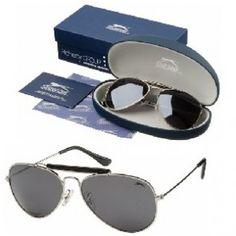 #tentkopenonline Luxe en kwaliteitsvolle aviator zonnebril van het Britse merk Slazenger.  Verpakt in een zacht etui, met certificaat. * CAT 4, UV 400 http://www.festivalking.com/