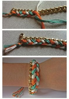 DIY summer bracelet.