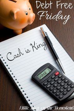 Debt Free Friday Week 2: Cash is King - http://www.littleblogonthehomestead.com/debt-free-friday-week-2/
