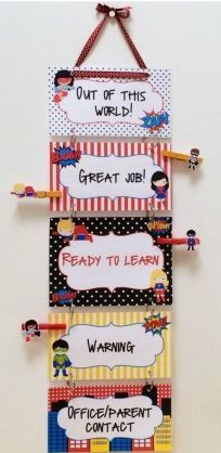 Printable classroom decor ideas with a cute superhero theme!